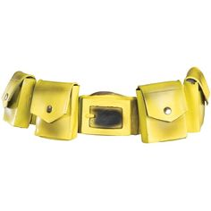 Yellow Batman Utility Belt ($13) ❤ liked on Polyvore featuring accessories, belts, batman, halloween costumes, yellow utility belt, velcro belt, star belt, utility belt and yellow belt