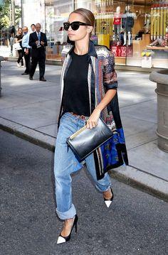 Nicole Richie Half Cuff Jeans 2017 Street Style