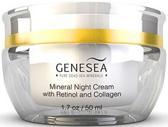 Best Hydrating Night Cream Moisturizer - Nourishes With Minerals, Collagen and Retinol While You Sleep -Improves Appearance of Fine Lines, Wrinkles, Dry Skin - Premium Dead Sea Cosmetic Product - Sulfates & Parabens Free - By Genesea Genesea, $39.95