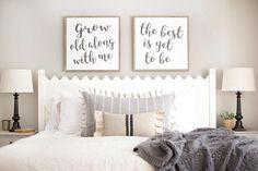 Grow old along with me, the best is yet to be framed bedroom signs 💰SAVE off ENTIRE ORDER when you buy more than one item in our shop. Click or tap our shop name to view our main shop page, or click the link below! Bedroom Signs, Bedroom Decor, Wall Decor, Master Bedroom, Bedroom Ideas, Bedroom Inspo, Bedroom Wall, Master Bath, Wall Art