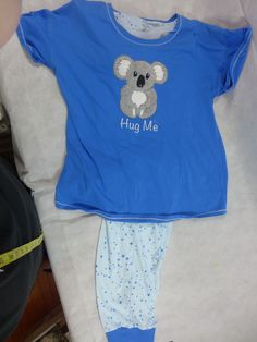"Womens Pajamas Secret Treasures 3D Koala Fuzzy Bear ""Hug Me"" Blue XL 16/18 New #SecretTreasures #PajamaSets"