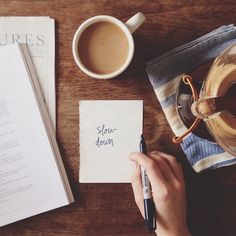 morning notes and coffee