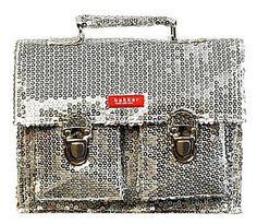 Bakker silver sequin lunchbox