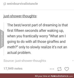 Weird dreams are the best