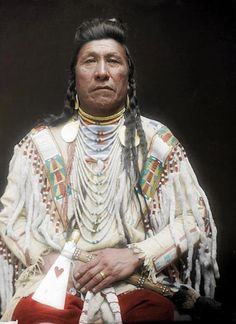 A French artist Frederic Duriez has color-enhanced some Native American portraits. Some of these photos are up to 120 years old and the color enhancement has certainly added life to the old portraits. Native American Pictures, Native American Tribes, Native American History, Native American Jewelry, Indian Tribes, Native Indian, Blackfoot Indian, Indian Art, Crow Indians