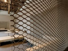 TANNED LEATHER ROOM DIVIDER T.NET BY MATTEOGRASSI | DESIGN FRANCO POLI