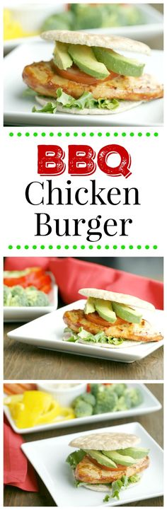 BBQ Chicken Burger. A healthy way to enjoy barbeque chicken on the grill. Simple to make and the whole family will love it.