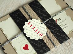 Romantic Love Letter Inspired Wedding Invitations | Oh So Beautiful Paper