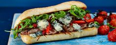 Celebrate British Sandwich Week with a Steak & Stilton ciabatta. This grilled Steak and stilton ciabatta will satisfy all your sandwich cravings. Beef Sirloin, Venison, Asda Recipes, Beef Dip, Prime Beef, Ciabatta, Biscuit Recipe, Curry Recipes, Quick Easy Meals