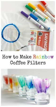 How to Make Rainbow Coffee Filters with this super cool science experiment!