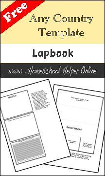 Free Country Lapbook - Homeschool Helper Online