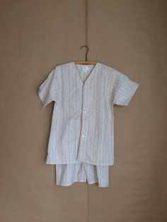 vintage 70's pajama set / deadstock / nos / mens night shirt and shorts / small size by yellowjacketvintage on Etsy