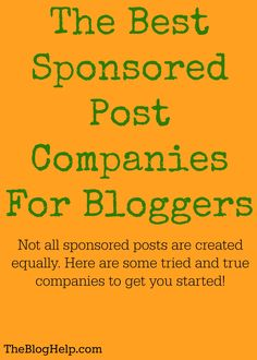Sponsored posts can be a great monetization source for bloggers. Here are some of the best companies to work with!