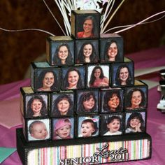 Graduation party ideas.... But with baby photos