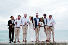 20 Beach Wedding Looks for Grooms & Groomsmen | SouthBound Bride | http://www.southboundbride.com/well-groomed-the-beach-wedding | Credit: Beck Rocchi/Jack London via Nouba