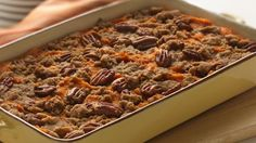 A hint of spice and citrus make a buttery, streusel-topped sweet potato casserole extra special.