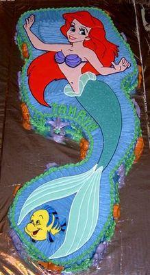 Ariel Mermaid Birthday Cake - Mermaid Cakes Gallery - Mermaid Cakes