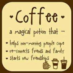 Coffee is absolutely a magical potion! #Coffee #Love