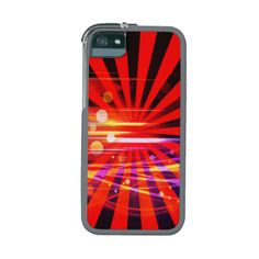 Abstract Crazy Light Ray Star Burst Pattern iPhone 5/5S Covers