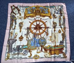 Authentic Hermes scarf Musee by Philippe Ledoux