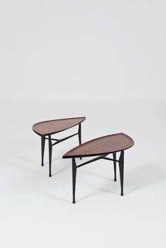 Yngve Ekström; Rosewood Occasional Tables for Westbergs Furniture, c1955.