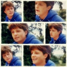 Michael J. Fox who played Alex P. Keaton on Family Ties <3