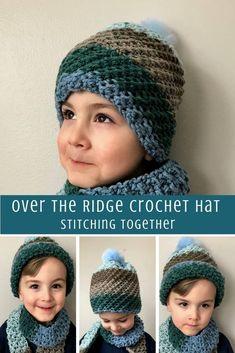 524292e2049 Over the Ridge Crochet Boy Hat Pattern. Crochet Kids HatsCrochet ...