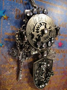 The Clock Tower Steampunk Necklace OOAK