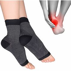 e7a4cee031 Cudon Compression Sock Sleeve for Foot Care, Open Toe Compression Socks for  Heel Protection,