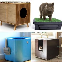 Best Modern Litter Boxes 2012 --  Some of these are pretty cool ways to disguise your litter box. However, one is more than $1700. Who spends that on a litter box?