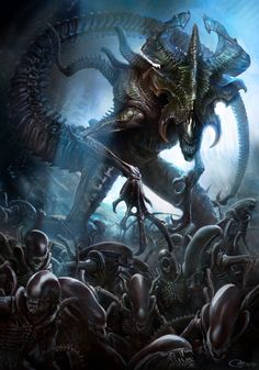"""brokehorrorfan: """"R.J. Palmer created this Alien King artwork for Sideshow Collectibles. Limited to 150, pre-orders for the hand-signed giclee print have already sold out. """""""