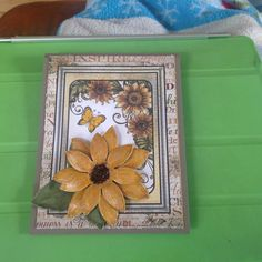Heartfelt  Creations papers and dies. Sunflower card # 2 outside.