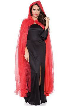 Wholesale prices on Women s Red Full Ghost Cape Costume for kids   adults  with same day shipping. 172748a83