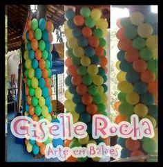 Colunas em espiral 4 cores