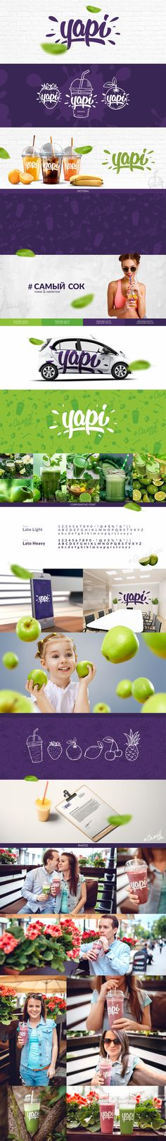 Yapi drinks on Behance Brand Identity Design, Graphic Design Branding, Corporate Design, Logo Branding, Packaging Design, Corporate Identity, Product Branding, Brochure Design, Graphisches Design