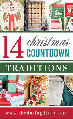 Different ways to count the days until Christmas- these are fun! A BUNCH of great Advent ideas!!