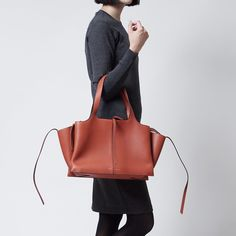 8b9c26ef1849 Modern Blue Rakuten Ichiba Shop  17888 Lady s of Celine CELINE shoulder bag  Tri-Fold Medium try fold LEATHER Brick Brown line - Purchase now to  accumulate ...