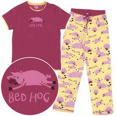 Fun Sleepwear   Lazy One Bed Hog Cotton Pajamas for Women ($35.99)