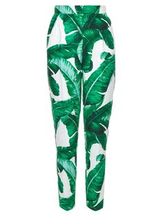 Banana leaf-print high-rise trousers | Dolce & Gabbana | MATCHESFASHION.COM