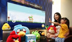 Angry Birds land on Samsung Smart TVs, wage war with gestures.