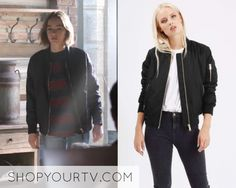 Atypical  Season 1 Episode 5 Casey s Black Bomber Jacket – Shop Your TV  Atypical 5d4a21a70