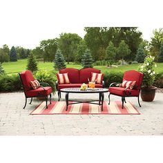 Better Homes And Gardens Furniture Layout Better homes and gardens providence 4 piece patio conversation set better homes and gardens providence 4 piece patio conversation set green seats 4 outdoorpatio pinterest patio conversation sets workwithnaturefo