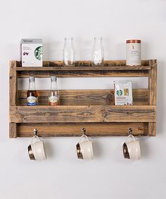 Another great find on #zulily! Reclaimed Barnwood Coffee Rack by DelHutson Designs #zulilyfinds