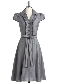 About the Artist Dress in Grey, #ModCloth   Someone wanna make this for me?!?!