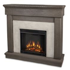 Real Flame Cascade Cast Mantel Electric Fireplace & Reviews | Wayfair