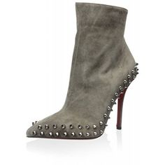 Boots, CHRISTIAN LOUBOUTIN, Christian Louboutin Women's Willetta Ankle Boot, Taupe, 37 M EU/7 M US
