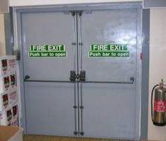 Fire Escape, Fire Doors, Brutalist, Top Freezer Refrigerator, Locker Storage, Kitchen Appliances, Furniture, Home Decor, Diy Kitchen Appliances