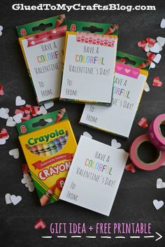 Colorful Valentine's Day - Gift Idea & Free Printable