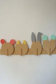 PEG animals - Leonard & co. - in kit - rack - bear - cat - rabbit - Fox
