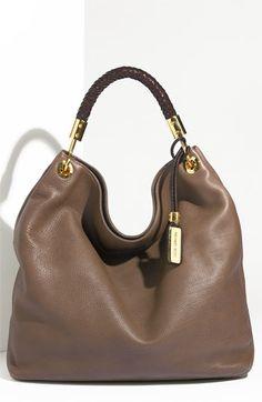 "Michael Kors leather hobo handbags!  Love MK!  I ""need"" this!"